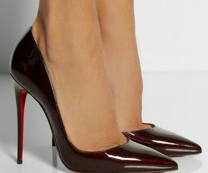 black, christian louboutin, and high heels image