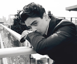 vincent piazza, black and white, and suit image