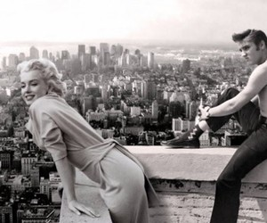 Marilyn Monroe, Elvis Presley, and elvis image