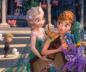 disney, anna, and elsa image