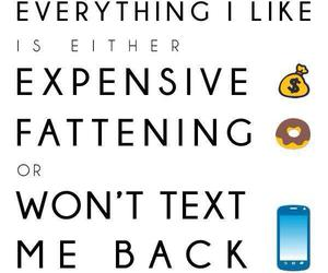 expensive, funny, and quote image