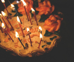 cake, candles, and light image