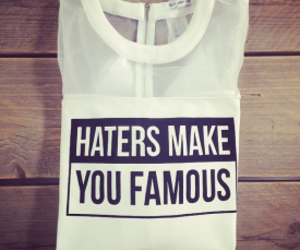 haters and famous image