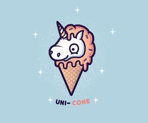 unicorn, cone, and ice cream image