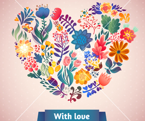 floral, flower, and romance image