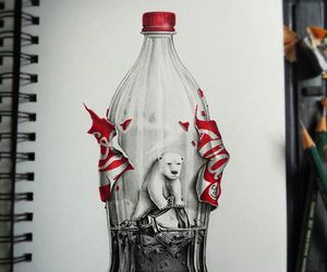 art, coca-cola, and drawing image