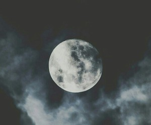 moon, night, and dark image