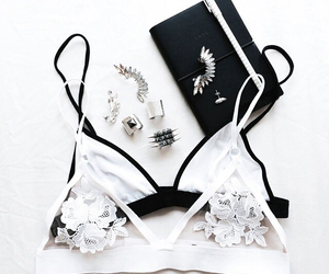 fashion, white, and bra image