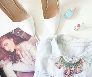 beautiful, nail polish, and necklace image