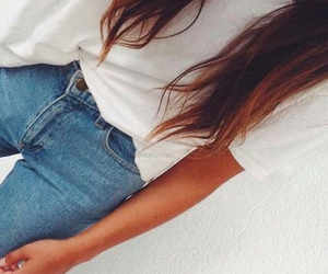 casual, hair, and levi's image