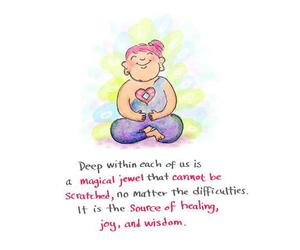 bright, Buddha, and doodle image