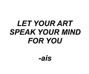 art, speak, and ais image