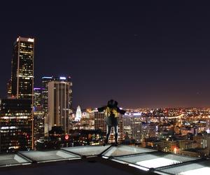 angel, city, and dark image