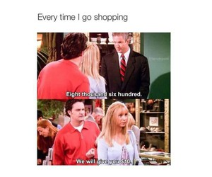 funny, shopping, and friends image