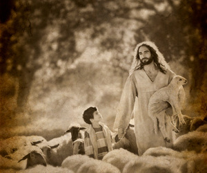 jesus, sheep, and repent image