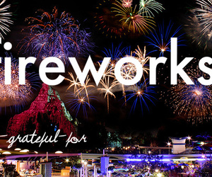 city, fireworks, and quote image