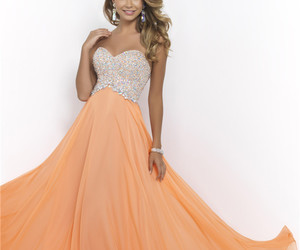 strapless prom dress image