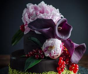 almond, cake, and ganache image