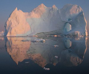 iceberg, nature, and sea image