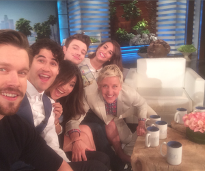 darren criss, chris colfer, and glee image