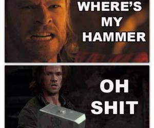 supernatural, thor, and hammer image