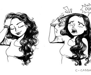 hair, funny, and c-cassandra image