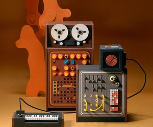 cardboard, miniature, and synth image