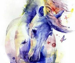 horse, art, and paint image