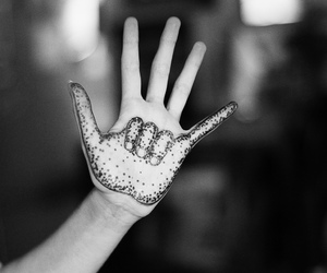 hand, art, and black and white image