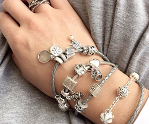 authentic, bracelet, and charms image