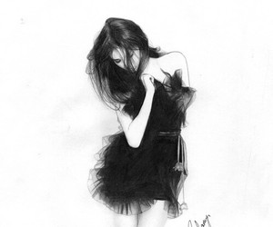 awesome, drawing, and black & white image