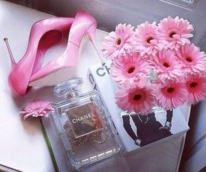 pink, chanel, and flowers image