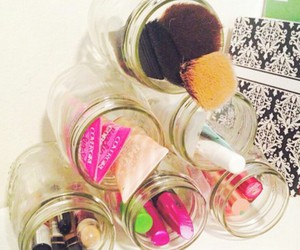 nyx lip butter, diy mason jars, and makeup jars image