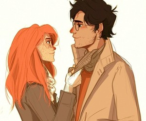 harry potter, ginny weasley, and art image