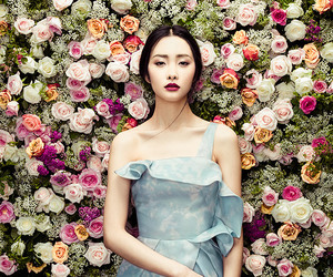 flowers and model image