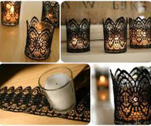 lace and diy- candles image