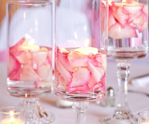 candles and diy wedding decorations image