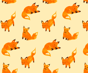 fox, orange, and wallpaper image