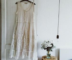 dress, wedding, and wedding flowers image