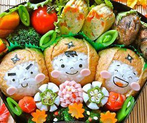 food, food porn, and sushi image