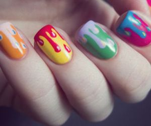 nails, colorful, and nail art image