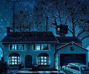 simpsons, house, and night image
