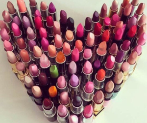lipstick, make-up, and heart image