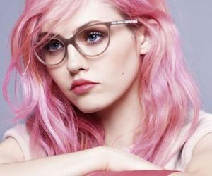 charlotte free, beautiful, and glasses image