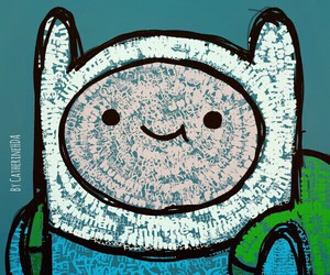background, adventure time, and finn the human image