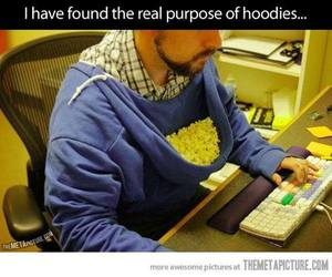 funny, popcorn, and hoodies image