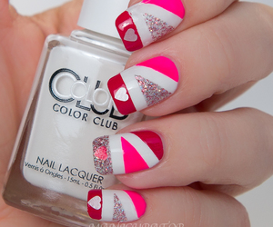 manicure, nail polish, and Valentine's Day image