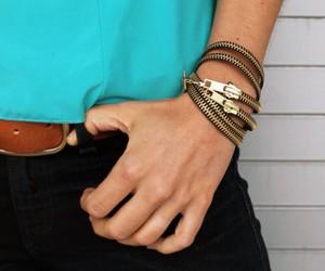 zipper, bracelet, and diy image