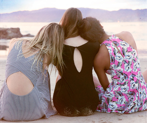 beach, floral, and stripes image
