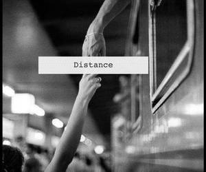 distance, love, and black and white image